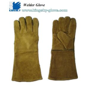 Cow Split Leather A Grade Welding Work Glove-6513 pictures & photos