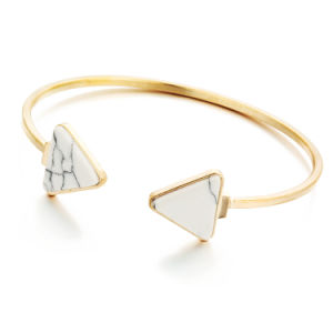 Retro Turquoise Jewelry Fashion Women Triangle Open Cuff Bracelet pictures & photos