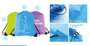 Outdoor Sports Polyester Drawstring Bag pictures & photos