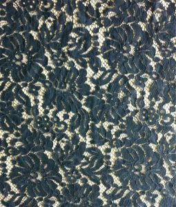 Black Cotton African Lace Fabric for Garment
