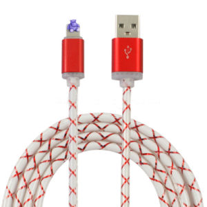 Transparent TPE Charging Sync USB Cable for iPhone Samsung pictures & photos