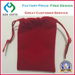 Wholesale Custom Velvet Red Gift Bag/Velvet Pouch pictures & photos