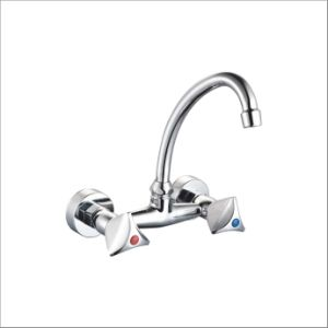 Nice Design Double Handle Wall-Mounted Kitchen Mixer&Faucet Jv74608 pictures & photos