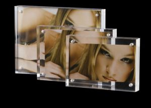 "4X6"" Acrylic Magnetic Glass Photo Frame pictures & photos"