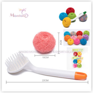 Household Cleaning Tool Kitchen Bathroom Cleaning Ball with Handle pictures & photos