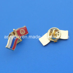 Russia-Kyrghyzstan Country Friendship Badge Gift Custom Country Flag Pin Souvenir pictures & photos