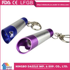 Cheap Portable Aluminum Promotional Mini Flashlight Keychain Bulk with Bottle Opener pictures & photos