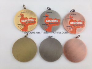 Custom Gold Plated Medal, Competition Medal (GZHY-KA-006) pictures & photos