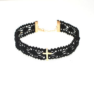Black Lace Alloy Cross Choker Necklace Women Fashion Jewelry New All Match Gifts pictures & photos
