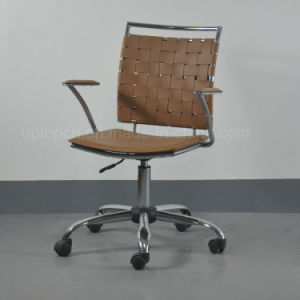 Hot Sale Modern Height Adjustable Metal Leather Office Chair with Wheels (SP-LC290) pictures & photos