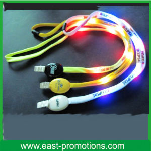 Promotional LED Flashing Lanyards LED Glowing Lanyards Light up Lanyards pictures & photos