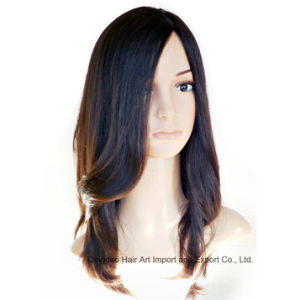 Kosher European Virgin Human Hair Silk Top Jewish Wig pictures & photos
