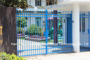 Haohan High-Quality Exterior Security Decorative Wrought Iron Fence Gate 17 pictures & photos