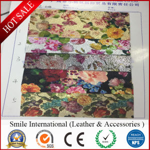 PVC Flower Artificial Leather for Handbags and Shoes pictures & photos