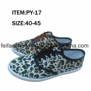 OEM Men Leisure Footwear Injection Canvas Shoes (FFPY0415-04) pictures & photos