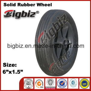 6X1.5 Elastic Rubber Caster Wheel pictures & photos