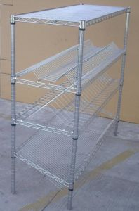 Adjustable Display Metal Wire Rack Shelving pictures & photos