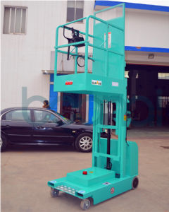 4m Full Electric Aerial Order Picker for Warehouse Use (Triple Masts) pictures & photos