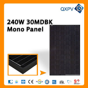 30V 240W Black Mono Solar Panel pictures & photos