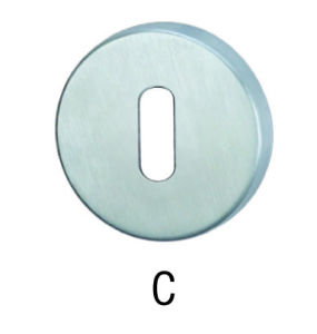 Stainless Steel Escutcheon with Key Hole (C-3)