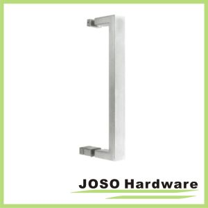 Brushed Stainless Square Tubing with Traditional Knob Single-Sided Towel Bar pictures & photos