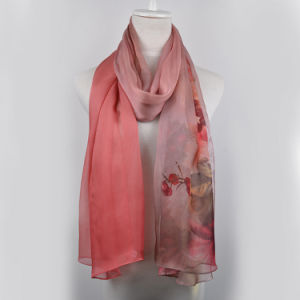 Digital Printed Silk Shawl (13-BR110303-4) pictures & photos