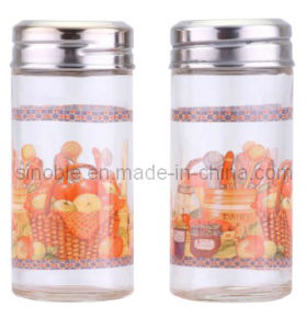 Salt and Pepper Shaker, Glass Salt Pepper Bottle, Salt Pepper Set (KG0303020321)