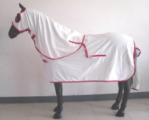 White Breathable Polycotton Summer Horse Rug (SMR3261-2) pictures & photos