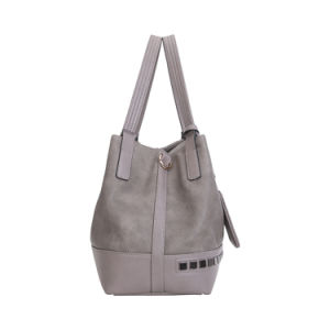 Vintage Style Rivets Front Women Shoulder Bag (MBNO042022) pictures & photos