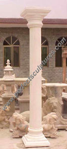 Stone Marble Granite Sandstone Hollow Roman Column (QCM016) pictures & photos