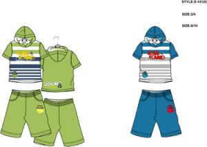 Boy′s 2PCS Knitting Set (S10122)