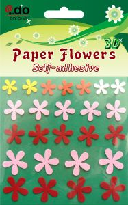 Paper Flower with Stem Curves (FD-01)