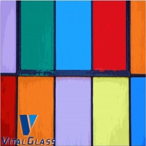 Hot Sell Colored Painted Glass for Decoration pictures & photos