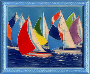 Ceramic Framed Decorative Painting - 2 pictures & photos
