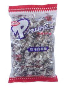 Cream Prune Drops Candy