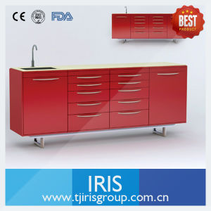 Dental Clinics Furniture / Medical Cabinet with Micro Crystal Table Top