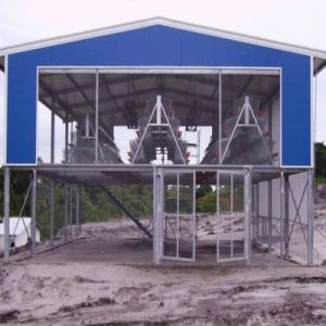 Pre Engineered Structural Steel Chicken House with Cage Raising System (PCH-5)