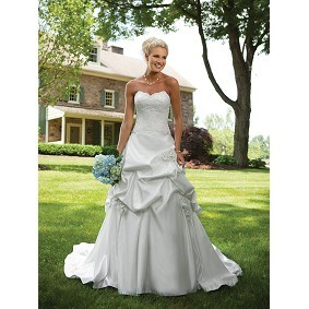 Strapless Ball Gown Sweetheart Wedding Dress