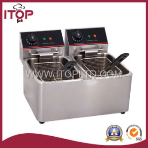 Commercial Two Tanks Electric Deep Fryer (J-4L-2) pictures & photos