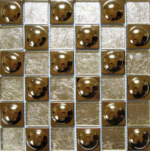 Glass Mix Metal Mosaic Tile (SM242) pictures & photos