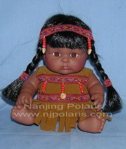 "8"" Indian Baby Vinyl Doll (C561)"
