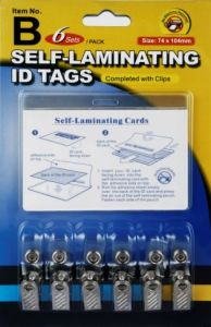 Self-Laminating ID Tags (ITEM B) pictures & photos