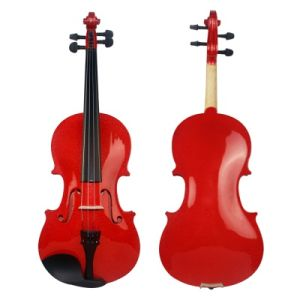BV/SGS Certificate Supplier---China Violin Factory Quality Starter Blue Color Plywood Violin for Student pictures & photos