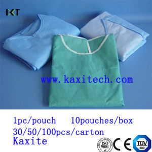 Disposable Non Woven Surgeon Isolation Medical Gown Dressing Manufacturer Kxt-Sg25 pictures & photos