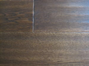 Oak Parquet Flooring With Hand Scrapted and Light Black Stained