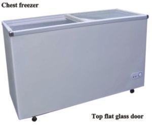 Chest Freeer with Top Flat Glass Door pictures & photos