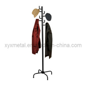 Home Basics Black Powder Coated Coat Rack pictures & photos