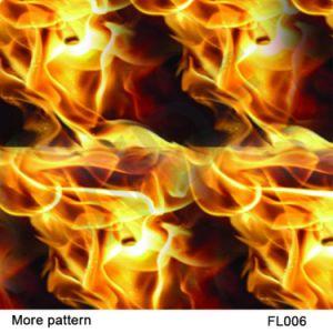 Kingtop 0.5m Width Skulls and Flame Design Aqua Print Film pictures & photos