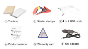 Mini Car Jumper Starter Emergency 12V Portable Multifunction Multi Funcation Portable Car Jump Starter pictures & photos