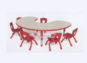 Preschool Moon-Shape Table and Chair (SF-25K) pictures & photos